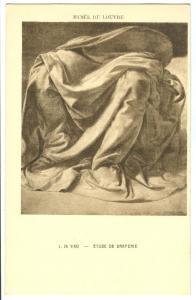 L. Da Vinci, Etude de Draperie, early 1900s unused Postcard