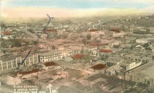 Birdseye View 1948 Nogales Mexico Vista General RPPC Photo Postcard 4691
