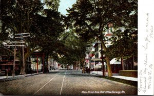 Maine Norway Main Street From Post Office 1909