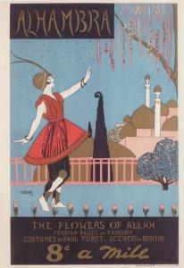The Flowers Of Allah Ballet Antique Poster VA& Theatre Postcard