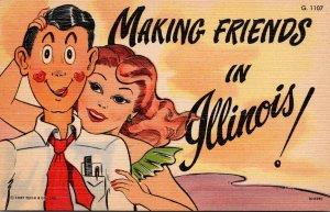 Humour Romantic Couple Making Friends In Illinois Curteich
