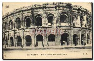 Postcard Old Nimes Les Arenes Exterior view