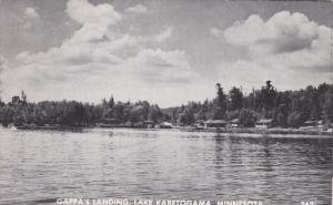 Waterfront View, Cabins at Gappa's Landing, Lake Kabetogama, Minnesota 1950