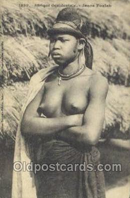 Jeune Foulsh African Nude Nudes Postcard Post Card  Jeune Foulsh
