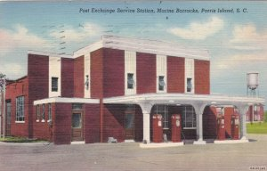 South Carolina Parris Island Post Exchange Service Station 1943 Curteich 2320