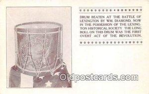 Drum Beaten, Battle of Lexington WM Diamond Patriotic Unused
