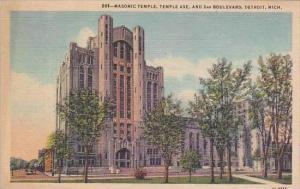 Michigan Detroit Masonic Temple Ave And 2nd Boulevard