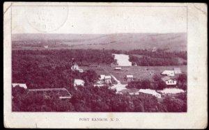 North Dakota ~ FORT RANSOM - pm1907 c1900s Divided Back