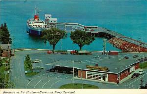Bar Harbor, Maine, ME, Yarmouth Ferry Terminal, MV Bluenose, 1970 Postcard e6368