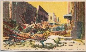 San Francisco CA 'What Earthquake Did In Half Minute' c1906 Postcard F32