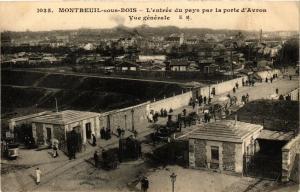 CPA AK PARIS 20e MONTREUIL-sous-BOIS L'Entrée du Pays Porte d'Avron (673307)