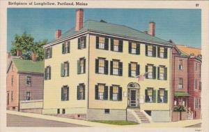Maine Portland Birthplace Of Poet Longfellow