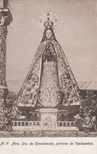 Our Lady Of Consolacion Patrona De Valpedenas Antique Spanish Religious Card