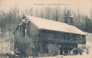 Methodist Camp Chapel at Casowasco on Owasco Lake Moravia NY, New York - pm 1953