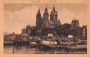 Prins Hendrikkade, St Nicolaaskerk Amsterdam Holland Unused