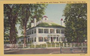 Massachusetts Cape Cod Old House With Famous widow's Walk Curteich