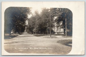Centralia Illinois~North Hickory Street Homes~1908 Ritchie Bros RPPC