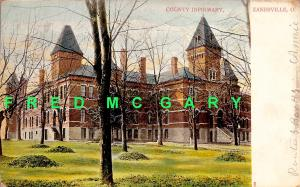 1908 Zanesville OH PC: County Infirmary (Poorhouse)