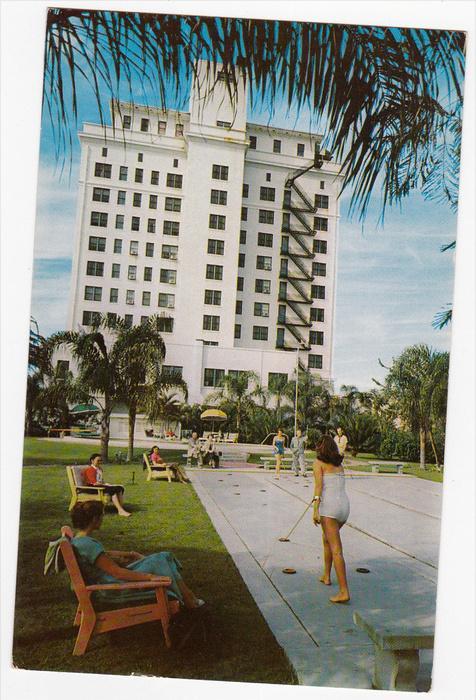 Shuffle Board , Sarasota Terrace Hotel , SARASOTA , Florida , PU-1958
