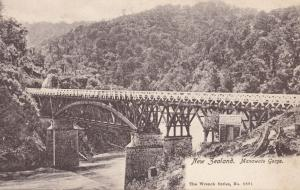 Manawatu Gorge Bridge New Zealand Old Postcard