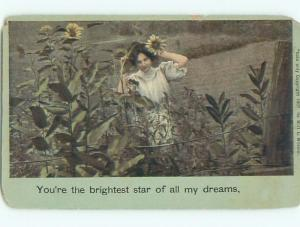 Divided-Back PRETTY WOMAN Risque Interest Postcard AA7984