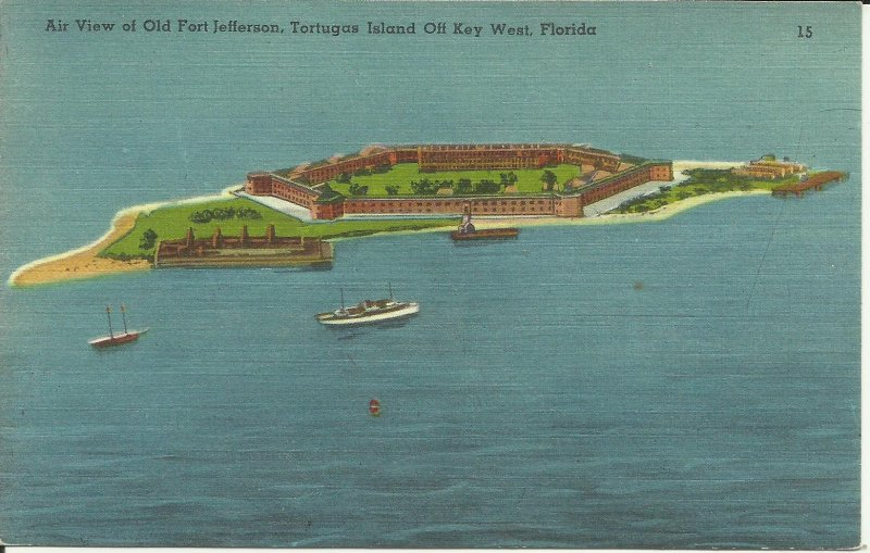 Air View of Old Fort Jefferson, Tortugas Island Off Key West, Florida