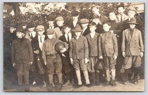 RPPC Camp? Boys~Various Ages~Variety of Hat Styles~Coach~1 Holds Basketball~1910