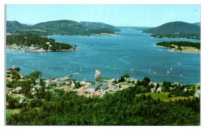 Aerial View of Somes Sound and Manset, Maine Waterfront Postcard