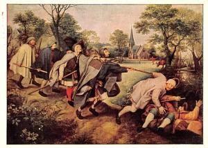 Perter Brueghel - Five blinds lead by a drunk man