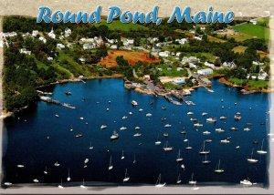 Maine Round Pond Aerial View