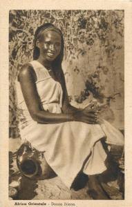 Eastern africa costumes native Africa ethnic woman Bilena Italian Somalia stamp