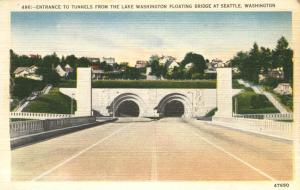 Entrance to Tunnels from Lake Washington - Seattle, Washington Linen