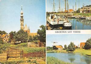 B101877 groeten uit veere ship bateaux   netherlands