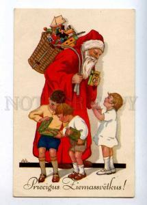 202907 SANTA CLAUS & Kids Gifts by AA Vintage NEW YEAR PC