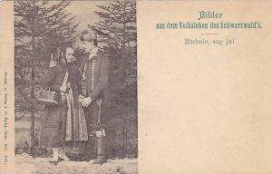 Man & Woman Wearing Typical Costumes, Bilder Aus Dem Volksleben Des Schwarzwa...