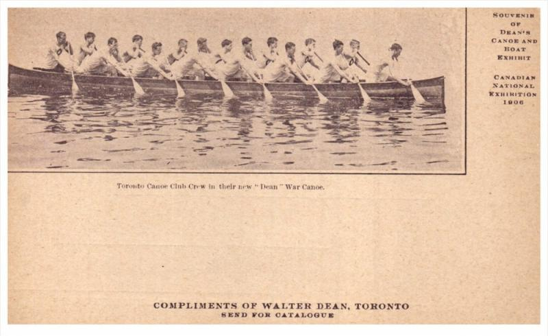 Canada  National Exhibition 1906   Dean Canoe and Boat Exhibit