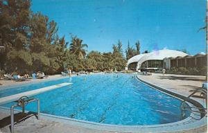 Isla Verde Puerto Rico Lemon Tree Restaurant Pool View Vintage Postcard K101688