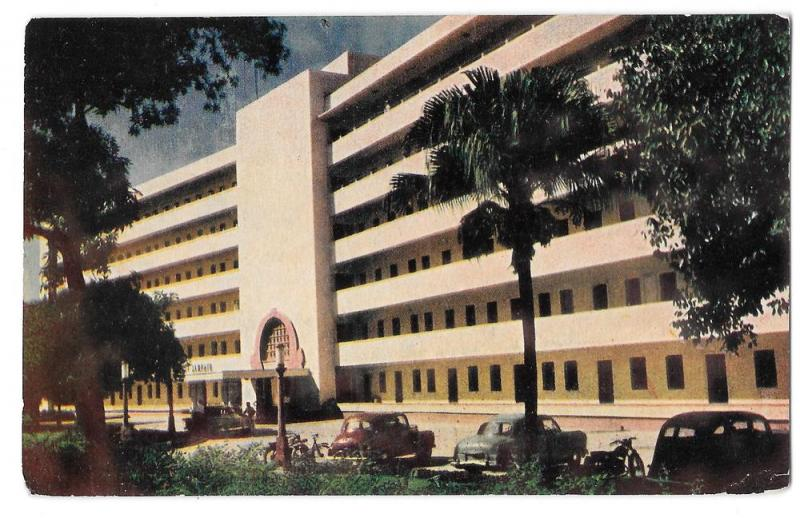 India New Delhi Hotel Janpath 1963 Vintage Postcard