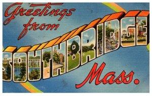 Massachusetts  Southbridge , LARGE LETTER