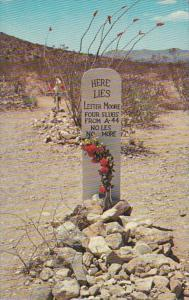 Arizona Tombstone Lester Moore Grave Boothill Cemetery