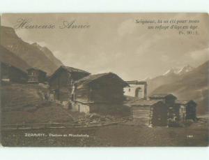 old rppc NICE VIEW Zermatt - Visp - Valais Switzerland i1897