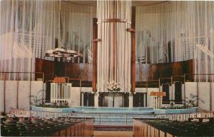 Oklahoma City Oklahoma~Interior View~St. Luke's Methodist Church~1950's Postcard