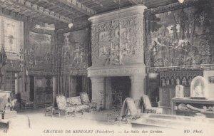 FINISTERE, France,1910-1920s, Chateau de KERIOLET - La Salle des Gardes
