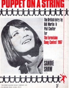 Puppet On  A String Sandie Shaw 1960s Sheet Music