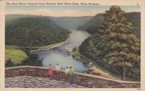 The New River Canyon From Hawks Nest State Park West Virginia