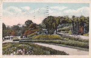 New Jersey Newark Branch Brook Park Sun House and Italian Gardens 1916