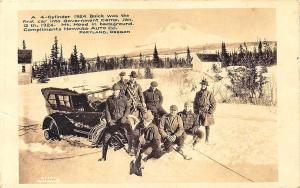 Portland OR 1924 Buick Mt Hood Government Camp Howard Auto RPPC Postcard