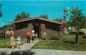 Sod House Pioneer Village Minden Nebraska NE on Roue US 6 Postcard