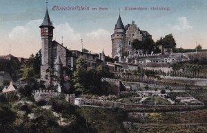 KOBLENZ, Rhineland-Palatinate, Germany, 1900-1910s; Ehrenbreitstein Am Rhein,...