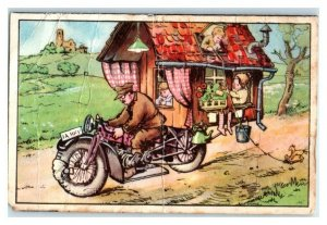 Motorcycle RV, Funny Technology, Echte Wagner German Trade Card *VT31R